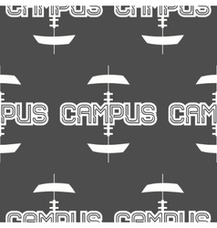 American football campus seamless pattern in vector