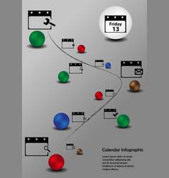 Calendar Infographic vector image