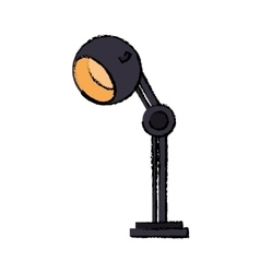 Cartoon dark lamp bulb light office icon vector
