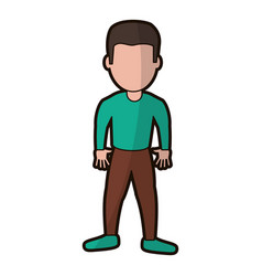 cartoon son boy character vector image vector image