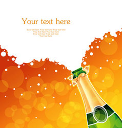 Champagne back vector