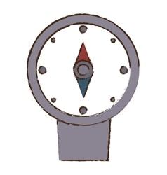Compass location gps travel color sketch vector