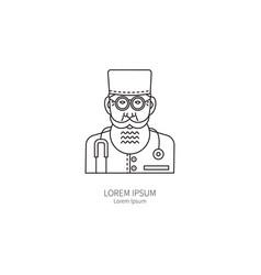 Doctor line icon vector