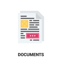 documents icon concept vector image vector image