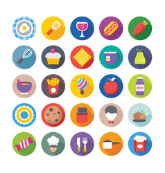 Food flat icons 6 vector