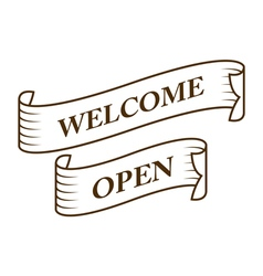 graphic vintage welcome and open vector image