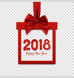 happy new year 2018 square banner vector image