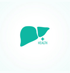 human liver symbol vector image