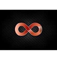 Infinity red dark vector