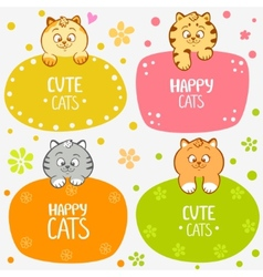 kittens labels vector image vector image