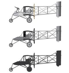 Model airplane retro biplane vector image