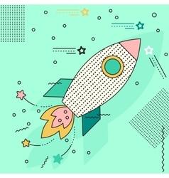 rocket flies to stars vector image vector image
