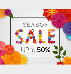 Season sale concept discount banner with abstract vector