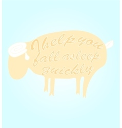 Sheep for a quick sleep vector