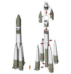 Space Rocket infographics vector image