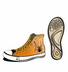 spider shoe vector image vector image