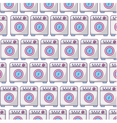 Wash machine pattern background vector