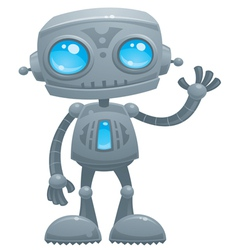 Waving robot vector
