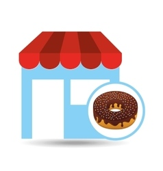 Selling fresh donuts vector