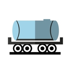 Fuel tank isolated icon vector