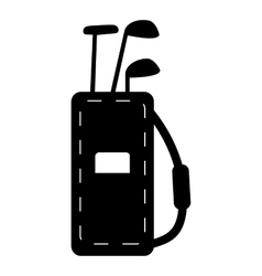 Bag for golf clubs icon simple style vector image
