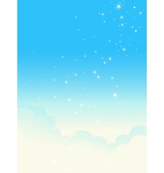 Shiny cloudscape vector
