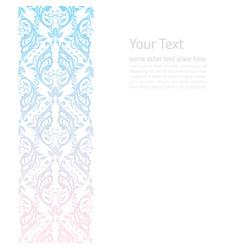 ornate border boho background vector image