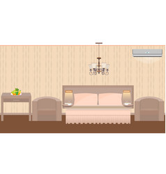 East hotel room interior with furniture vector