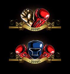 Decorative symbol of boxing vector