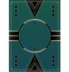 Circles Art Deco Background vector image