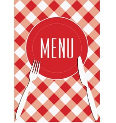 Menu card background vector