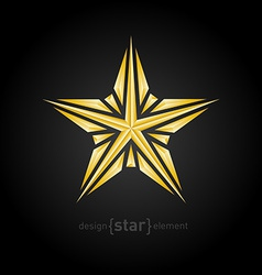 Luxury broken golden star on black background vector