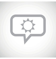 Sun grey message icon vector