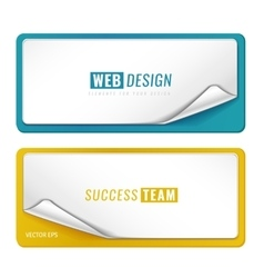Blank tags template vector