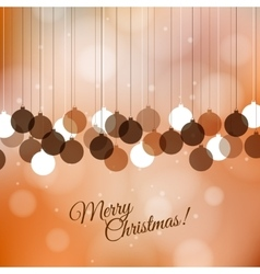 Merry christmas greeting background with holiday vector