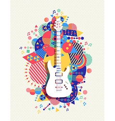 Electric guitar icon concept music color shape vector