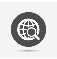 Global search sign icon world globe symbol vector
