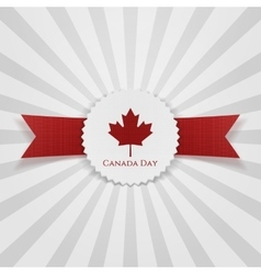 Canada day greeting realistic badge vector