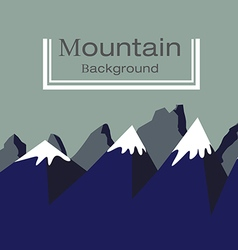 Background Blue Mountain is covered with ice vector image vector image