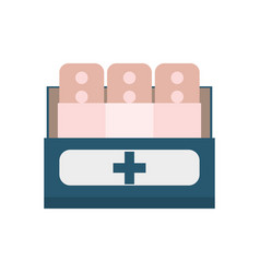 band plaster first aid vector image