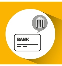 Bank concept safe cards credit and debit money vector