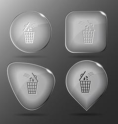 Bin glass buttons vector