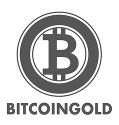 bitcoin gold sign icon for internet money vector image vector image