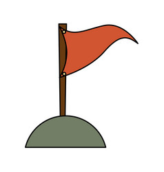 Camping flag isolated icon vector
