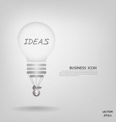 Creative light bulb vector image vector image