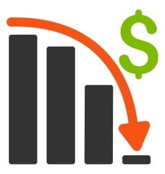 Default Crisis Fail Flat Icon vector image vector image
