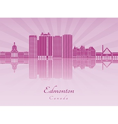 Edmoton v2 skyline in purple radiant orchid vector
