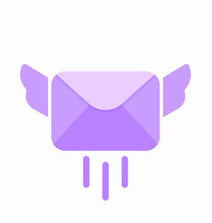 email envelope fly letter mail message send icon vector image