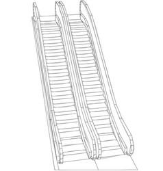 Escalator on white vector