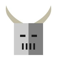 Flat style helmet isolated vector image